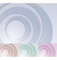 Layered circle background template vector