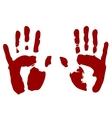 Bloody print of hands vector