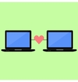 Flat style online love vector