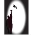 Graduate with mortar vector