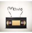 Movie on videotape vector