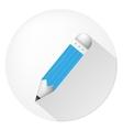 Icon for blog blue pencil vector
