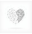 Geometric card - heart shape vector
