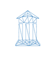 Architecture icon abstract vector