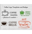 Set of coffee cafe icons logo and business cards vector