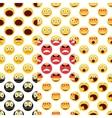 Smiley pattern set vector
