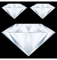 Diamonds over black background vector
