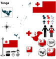 Tonga map small vector