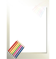 An empty template with colorful pencils at the vector