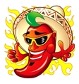 Cartoon red hot peper vector