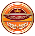 Citrus essential oil aromatherapy label vector