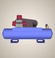 Air compressor vector