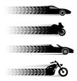 Car and motorbike symbols vector