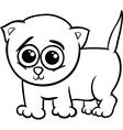 Baby kitten cartoon coloring page vector