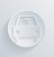 Circle icon with a shadow car vector