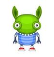 Funny cartoon green alien vector