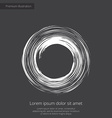 Abstract circle premium icon white on dark backgro vector