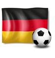 A soccer ball in front of the german flag vector
