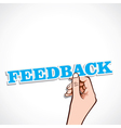 Feedback word in hand vector