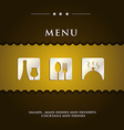 Modern restaurant menu vector