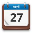 Blue calendar vector