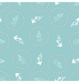 Seamless texture with pattern of stylized anchors vector