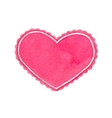 Watercolor heart frame on the white background vector