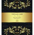 Vintage floral card template vector