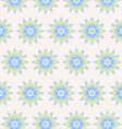 Retro flower pattern on pastel color vector