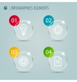 Glass infographic elements with icons vector