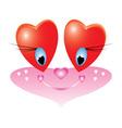 Valentines day emoticon vector