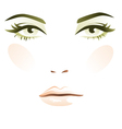 Girl face vector