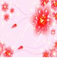 Fantasy floral wallpaper vector