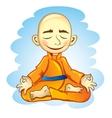 Vecor of joga in meditation vector