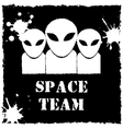 Alien space team logo on black background vector