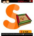 Letter s with sandbox cartoon vector
