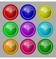 Star sign icon favorite button navigation symbol vector