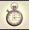 Classic retro stopwatch vector