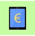 Flat style touch pad with euro vector