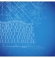 Blueprint background with building plans vector