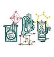 Hand draw chemistry vector