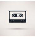 Audio cassette icon mono flat style vector