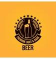 Beer bottle glass vintage background vector