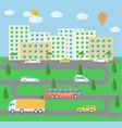 City town landscape life vector