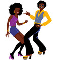 Disco dancers isolated vector