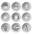 Health and safety icons vector