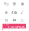 Fresh bakery icon set vector
