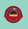 Cupcake background vector
