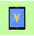 Flat style touch pad with yen vector
