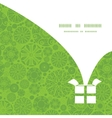 Abstract green and white circles christmas gift vector
